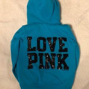 PINK Victoria's Secret Tops - Victoria's Secret PINK Sherpa Lined Hoodie XS